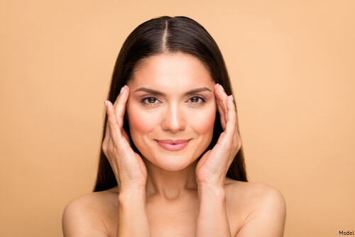 Woman with smooth skin